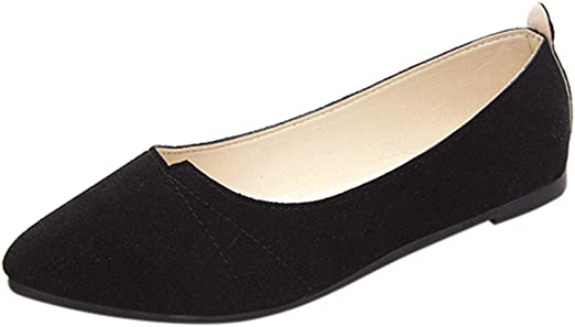 Womens Ballet Flats Single Shoes Casual Comfort Slip On Boat Loafers Shoes Size