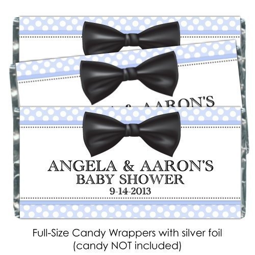 Amazon 25 Baby Shower Candy Wrappers Bow Tie Baby Shower
