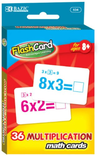 Bazic Multiplication Flash Card 72 pcs sku# 311525MA by Bazic