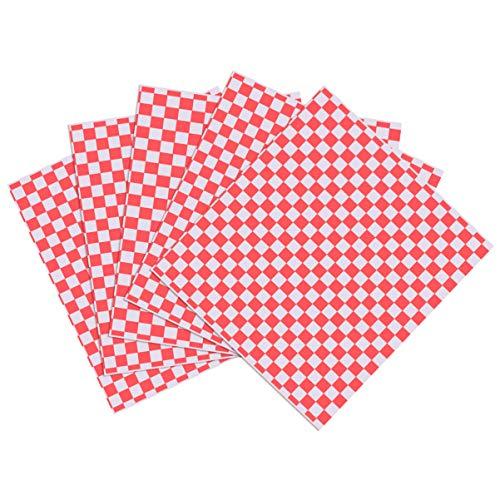 Cabilock 100 Stks Vellen Geruite Deli Mand Voering Voedsel Wrap Papier Vetbestendig Sandwich Wrap Voor Picknick…