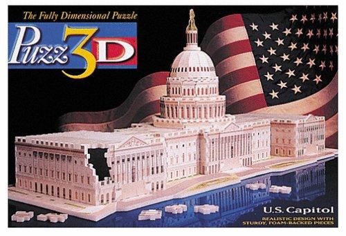 Wrebbit Puzz 3d Puzzle - Puzz 3D 718 pc U.S Capitol 3d puzzle
