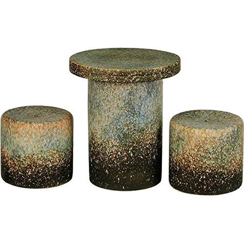 信楽焼 信楽BEST SELECTION 古窯変テーブルセット15号3点セット B075PP72G4