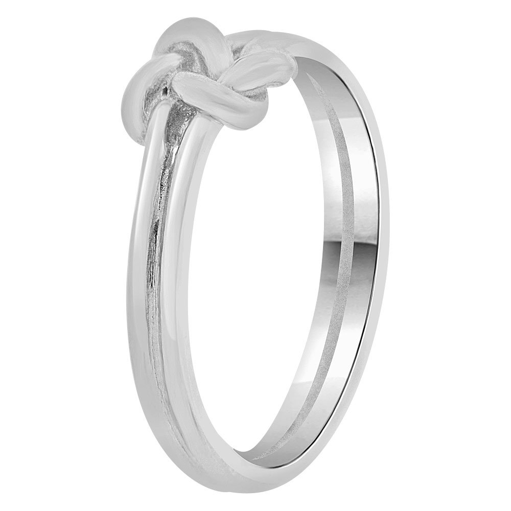 14k White Gold, Small Size Baby Child Kid Ring Band Love Knot Design by GiveMeGold (Image #2)
