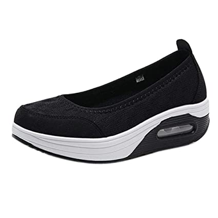 ZHRUI Sandalias para mujer, zapatillas Gladiator Wedge Tan Plataforma con punta cerrada Brillantes Tacones altos