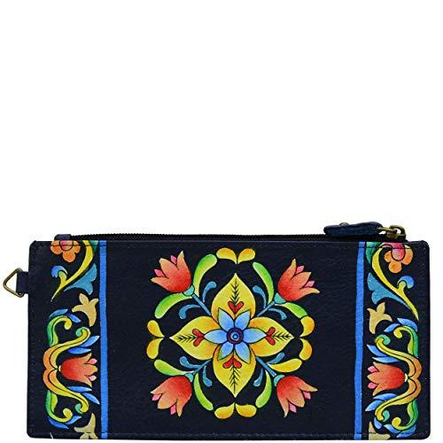 Anna by Anuschka Organizer Wallet   Genuine Leather   Tuscan Tiles (Sale Designer Umbrella)