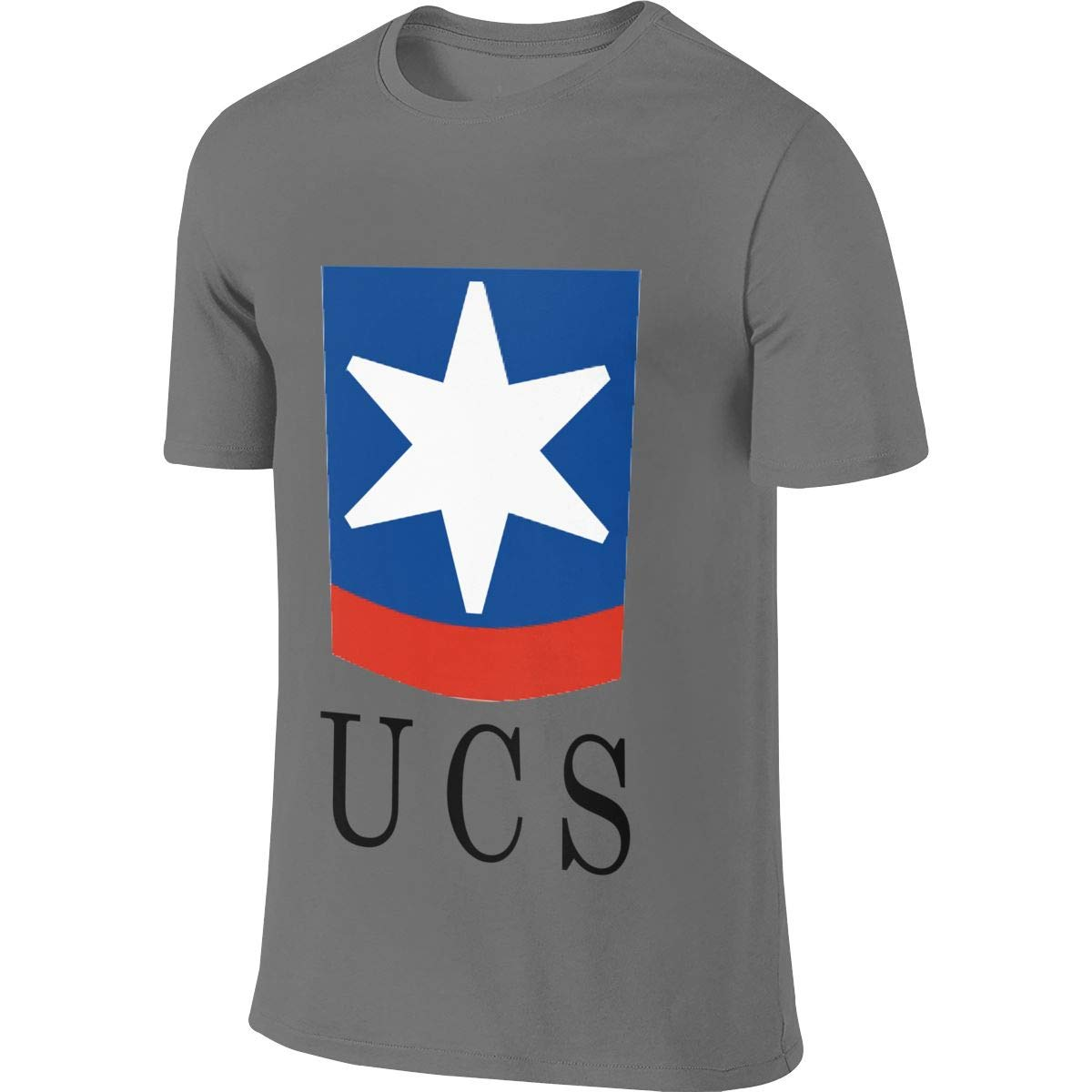 SHENGN Mens Personalized New Top UCS Logo Tshirts