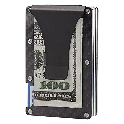 Slim Carbon Fibre Front Pocket Wallet, RFID BLOCKING Money Clip (Carbon Fibre-03) (Carbon Fibre-03) by teemzone (Image #1)