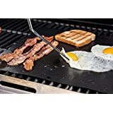 Non stick BBQ grill mat set of 2 , hight quality, non stick , Reusable Barbecue Grilling Accessories. Perfect for Cooking, Baking and for the Barbecue, Dishwasher Safe