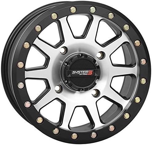 4//156 System 3 SB-3 Beadlock 15x7 ATV//UTV Wheel 5+2 Machined 19-0076