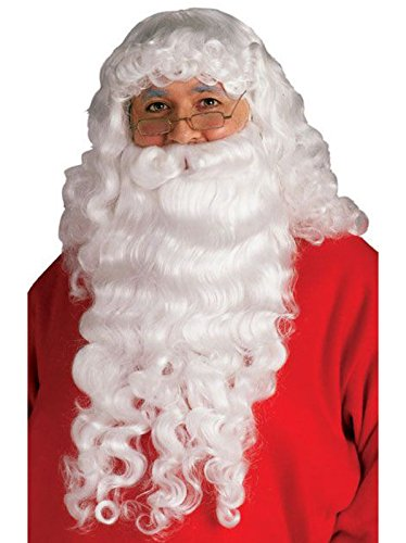 Rubie's Santa Beard and Wig Set, White, One Size ()