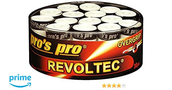 30 Overgrip Revoltec Tape blanco tennis grips Cinta para mango de ...