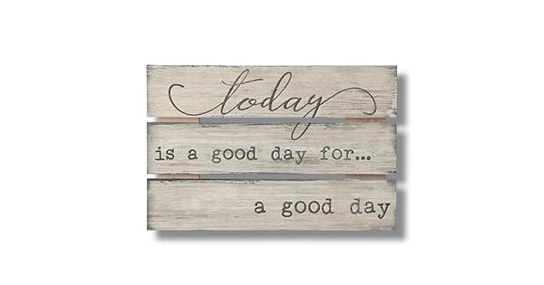 Amazon.com: Highland woodcrafters hoy es un buen día amplia ...