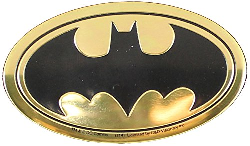 DC Comics Originals, Batman Logo 6cm Emblem, Medium Die-Cut, 2.5' x 1.25' - E 2.5 x 1.25 - E Officially Licensed & Trademarked Products S-DC-0027-M