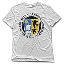 ESSES Saint Meinrad School Of Theology Seal Mens Crew Neck T-Shirt White
