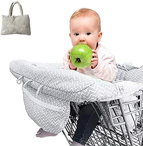 2-in-1 Shopping Cart Cover Protect Mat for Baby Foldable High Chair Cushion CoverPhone Holder & Storage Pocket / 2-in-1 Shopping Cart Cover Protect Mat for Baby Foldable High Chair Cushion CoverPhone Holder & Storage Pocket
