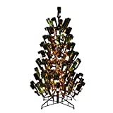"Vickerman 565063-4' x 30"" Black Wine Bottle Tree 200 Clear Miniature Lights Christmas Tree (K181441)"
