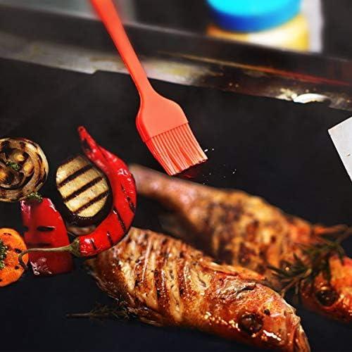 FHJZXDGHNXFGH 3 pcs/Ensemble résistant aux Hautes températures en Fibre de Verre Tapis de Barbecue revêtement BBQ Grill Tapis antiadhésif réutilisable