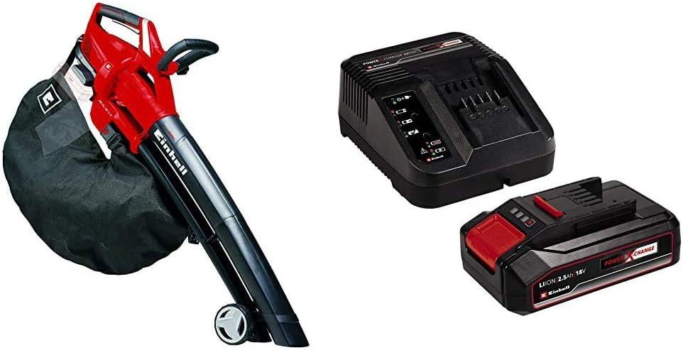 Cargador Power X-Change Einhell GE-CL 36 Li E Solo Aspirador-soplador de hojas con tecnolog/ía Power X-Change 2x18V + 4512097 Kit para principiantes que incluye Bater/ía 2,5 Ah ref. 3433600