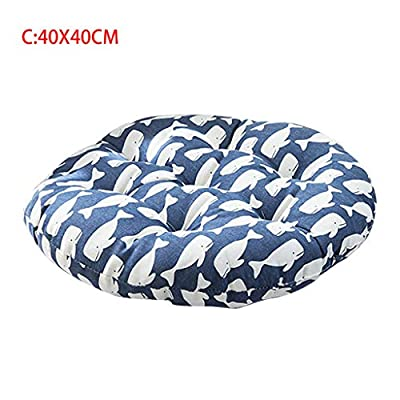 Sdoveb Chair Cushion Round Cotton Soft Padded Thicken Seat Cushion Pad for Office, Home or Outdoor (C) : Garden & Outdoor