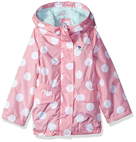 Carter's Little Girls' Fleece Lined Anorak Jacket, Pink Dot, (Fleece Lined Anorak)