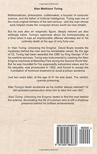 alan turing unlocking the enigma amazon co uk david boyle  alan turing unlocking the enigma amazon co uk david boyle 9781500985370 books