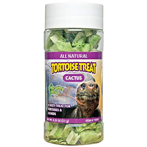 (Healthy Herp Tortoise Treat, Cactus, 0.25-Ounce (7.1 Grams) Jar)