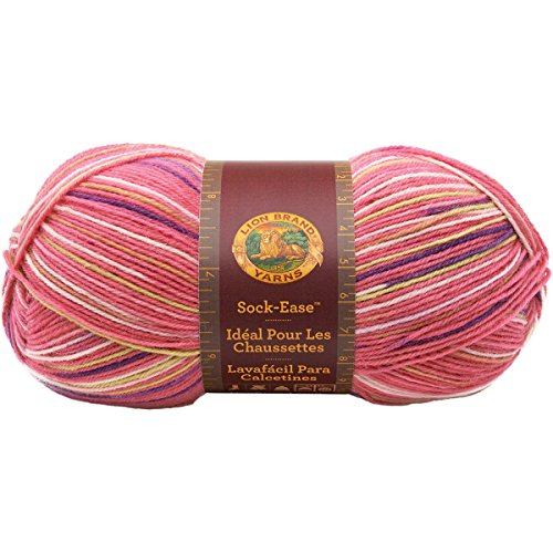 Lion Brand Yarn 240-205L Sock-Ease Yarn, Cotton Candy (Cotton Sock Yarn)