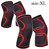 Product review for Knee Sleeve, 711TEK Compression Knee Brace for Knee Pain - Premium Recovery Knee Support for Running, Jogging, Sports, Joint Pain Relief, Arthritis - for Men & Women(L)