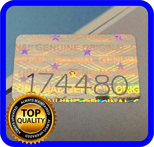 200 pcs Hologram labels with serial numbers, warranty stickers seals .63 x .39 - Number Warranty