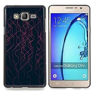 Stuss Case / Funda Carcasa protectora - Negro Rayas Energía Tech - Samsung Galaxy On7 O7