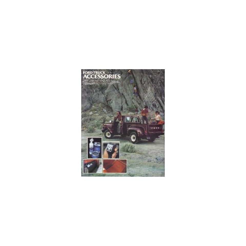 1979 Ford Truck Accessories Sales Brochure Literature Piece Dealer Advertisement