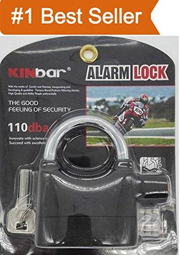 flex Brass Alarm Lock, Anti Theft Burglar Pad Lock, Security Siren, Home, Bike, Bicycle, Shop Lock