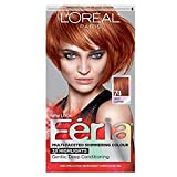 L'Oreal Feria Permanent Haircolor Gel - 74 Copper Shimmer (Deep Copper) 1 Each (Pack of 4)