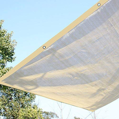 Ecover 16x16ft Sun Mesh Shade Panel, 90% Shade Cloth UV Sunblock Grommets Patio/Pergola/Canopy,Wheat