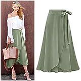 Women Plus Size Long Skirt Lady High Waist