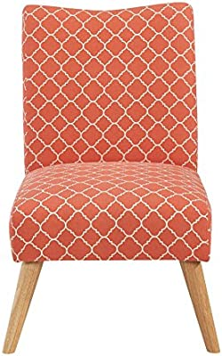 Pleasant Urban Home Furniture Chair Fabric Soft Coral Lattice Evergreenethics Interior Chair Design Evergreenethicsorg