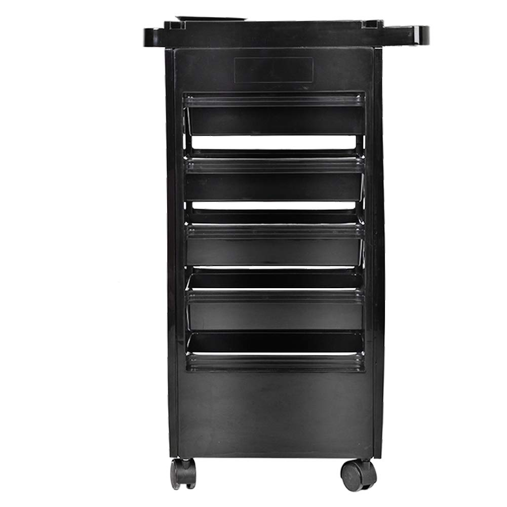 Instrument Tray, Hair Salon Instrument Storage Cart Adjustable Height Trolley Beauty Tools with 5 Drawers by Antilog