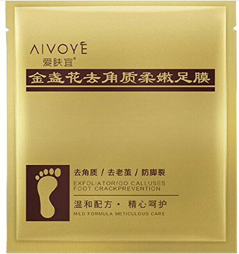 Kemilove 1Pair Exfoliating Foot Peeling Mask Peels Away Calluses and Dead Skin (A#)