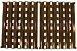 Music City Metals 90262 Porcelain Steel Heat Plate Replacement for Select Brinkmann Gas Grill Models, Set of 2