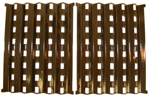 Music City Metals 90262 Porcelain Steel Heat Plate Replacement for Select Brinkmann Gas Grill Models, Set of 2 by Music City Metals