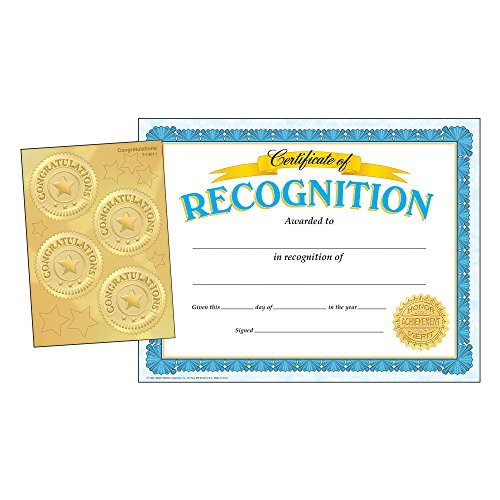 TREND enterprises, Inc. T-11907 Recognition (w/Congratulations Seals) Certificate Combo - Certificate Templates Recognition