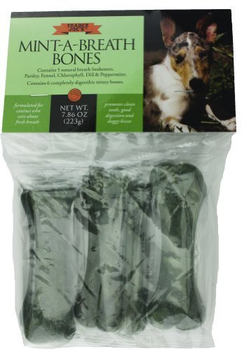 Trader Joe's Mint-A-Breath Minty Bones for Dogs (6 (Bone A Mints Bones)