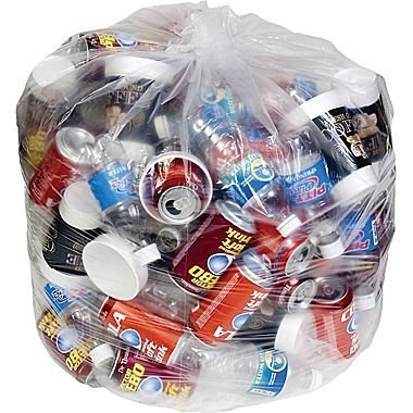 65 Gallon Trash Bags for Toter (Clear, 50 (Large Wheeled Tote)