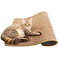 Cat Scratching Mat Sisal Mats Cat Scratching Pad Carpet Cat Scratch Rug Floor Cat Scratchers Sisal Fabric Sisal Carpet Cat Scratching Post Sisal Fabric Scratching Post 11.8 15.7