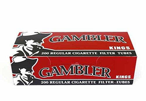 Machine Cigarette Making Filter (Gambler Regular King Size Cigarette Tubes (10 Boxes))