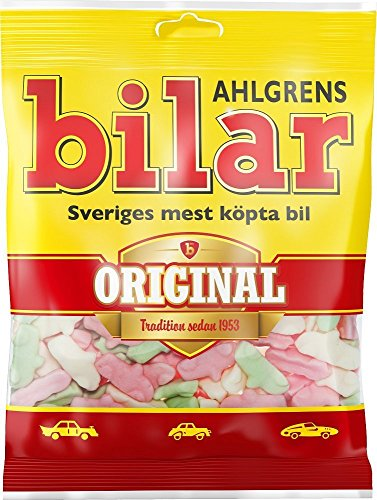 (10 Bags x 125g of Ahlgrens Bilar Original - Swedish - Chewy - Marshmallow - Cars - Candies - Sweets - New)