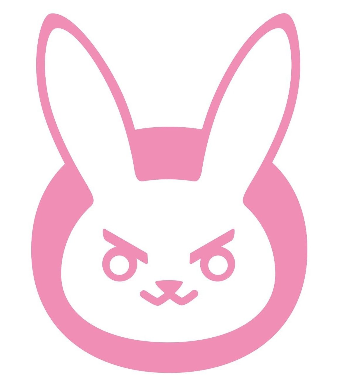 OVERWATCH VIDEO GAME D-VA BUNNY LOGO VINYL STICKERS SYMBOL 5 5