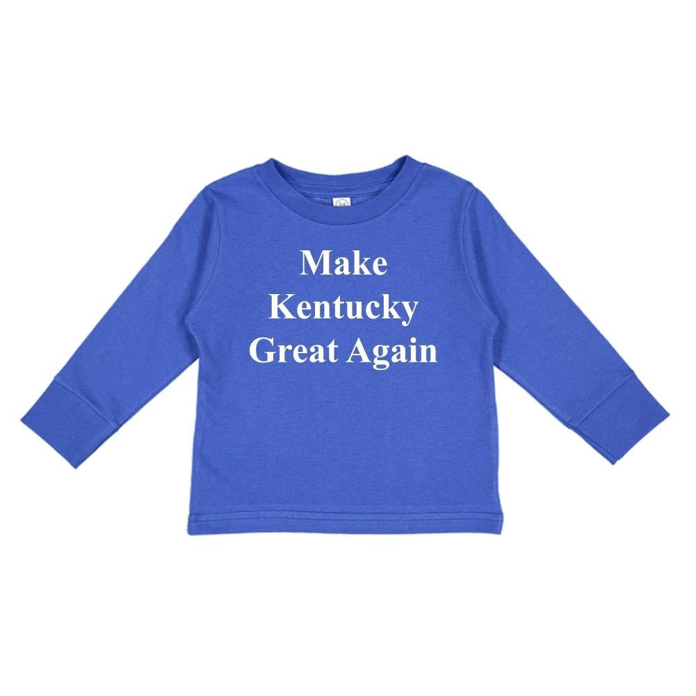 MAGA Trump Republican Toddler//Kids Long Sleeve T-Shirt Make Kentucky Great Again