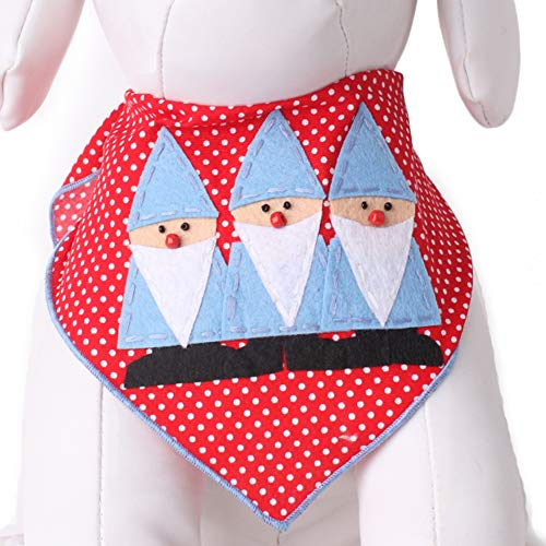 Tail Trends Christmas Dog Bandanas with Gnomes Designer Appliques 100% Cotton