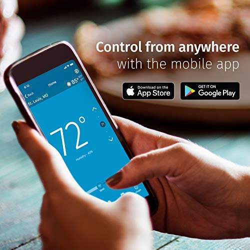 Emerson Sensi Touch Wi-Fi Smart Thermostat with Touchscreen Color Display, Works with Alexa, Energy Star Certified, C-wire Required, ST75 51NHJq3QkiL